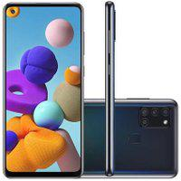 Smartphone Samsung Galaxy A21S 64Gb 4Gb Ram Android 10 Preto