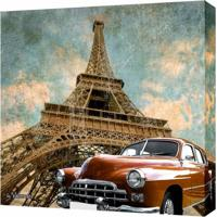 Quadro Impressão Digital Carro Marrom 30X30Cm Uniart