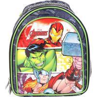 Lancheira Escolar Infantil Xeryus Os Vingadores - Masculino-Preto+Verde