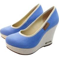 Scarpin Barth Shoes Land - Feminino-Azul
