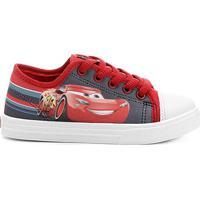 Tênis Infantil Disney Carros3 Masculino - Masculino-Cinza+Vermelho