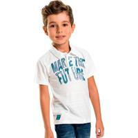Camisa Infantil Polo Future Branco