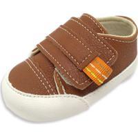 Sapatinho De Bebê Tênis Pititiko Marrom 33