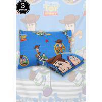 Jogo De Cama Solteiro Lepper 3Pã§S Toy Story 1,40 M X 2,20 M Azul - Azul - Dafiti