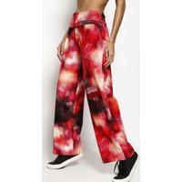 Calça Pantalonada Abstrata- Vermelha & Pretaccm