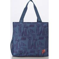 Bolsa Fila Tote Shopper Print Condition - Unissex-Azul
