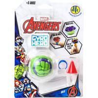 Pião De Batalha - Giro Hero - Disney - Marvel - Avengers - Hulk - Dtc