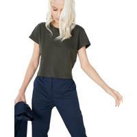 T-Shirt Cropped Sustentável