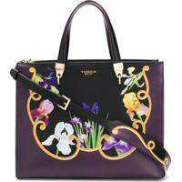 Tosca Blu Bolsa Tote Iris Com Estampa Floral - Preto