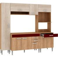Cozinha Compacta Classic Flex 9 Pt 3 Gv Carvalho Com Blanche