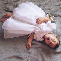 Vestido Bebê Branco Batizado