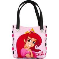 Bolsa Infantil Princesa Pink Poá - Feminino-Rosa