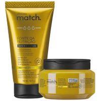 Combo Match Fonte Da Nutrição Fios Finos: Máscara Capilar + Creme Para Pentear