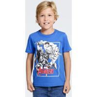 Camiseta Infantil Estampa Os Vingadores Marvel