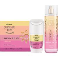 Combo Cuide-Se Bem Jardim De Sol: Sabonete Em Barra + Body Splash + Desodorante Roll On Antitranspirante