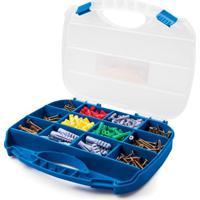 Maleta Organizadora Para Parafusos E Buchas Com 385 Utility Peças Azul