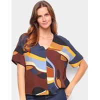 Blusa Cantão T-Shirt Est Vale Feminina - Feminino-Colorido
