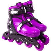 Patins Roller In-Line Radical Ajustável - Unissex-Roxo