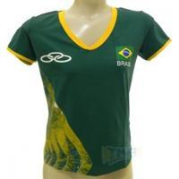 Camisa Olympikus Cbv Feminina 16/17 Vrd S/N - Olympikus