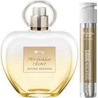Kit Perfume Feminino 80Ml Edt + Perfume Feminino Dose 30Ml Edt Antonio Banderas Her Golden Secret - Feminino-Incolor