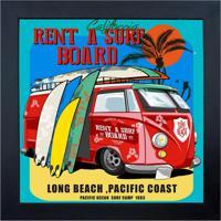 Quadro 65906 Surf Beach 23X28 Cm Preto