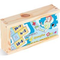 Jogo Educativo Carlu Brinquedos Domino 4 Branco