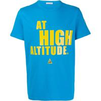 """Moncler """"At High Altitude"""" Print T-Shirt - Azul"""
