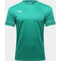Camisa Puma Treino Team Goal Masculina - Masculino-Verde+Branco