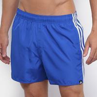 Short Adidas 3 Stripes Masculino - Masculino-Azul