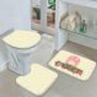Jogo Tapetes Para Banheiro Páscoa Triângulos Único 40X60