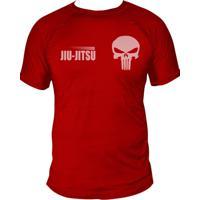 Camiseta Uppercut Jiu-Jitsu Dry Fit Skull Vermelha