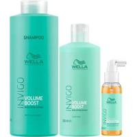 Kit Shampoo + Máscara + Sérum Wella Professionals Volume Booster - Unissex-Incolor