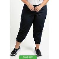 Calça Feminina Jogger Com Bolso Preto