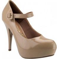 Sapato Vizzano Verniz Cristal Brilho - Feminino-Nude