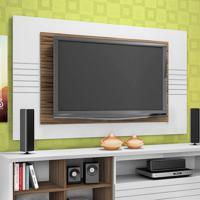 Painel Para Tv Home Friz Branco E Amêndoa 157 Cm