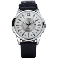 Relógio Curren Analógico 8123 Prata/Branco