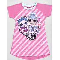 Camisola Infantil Lol Surprise Manga Curta Rosa