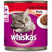Ração Para Gatos Whiskas Adulto 1+ Anos Patê Sabor Carne Lata 290G