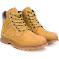 Geox Kids Ankle Boot Com Cadarço - Amarelo