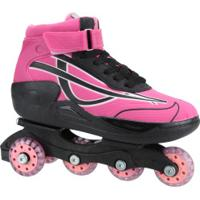 Patins Oxer Roller Boot - In Line - Rosa/Preto