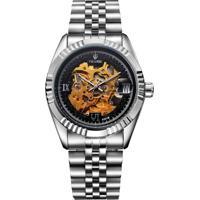 Relógio Tevise 8391B Masculino Automático Pulseira De Aço - Preto