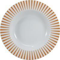 Prato Fundo 23 Cm Porcelana Schmidt - Dec. Sol Laranja