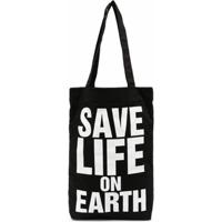 Katharine Hamnett London Save Life On Earth Tote Bag - Preto
