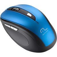 Mouse Sem Fio Comfort Usb Azul E Preto Mo240 Multilaser