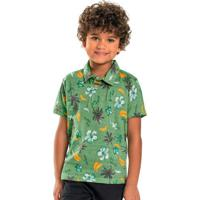 Camisa Infantil Polo Verde