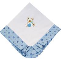 Manta Enxoval Piquet Padroeira Baby Miguel Azul - Azul - Menino - Dafiti
