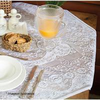 Toalha De Mesa 4 Lugares Dinner- Branca- 100X100Cm
