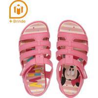 Sandália Mickey E Minnie Infantil Para Bebê Menina - Rosa