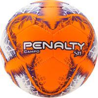Bola De Futebol De Campo Penalty S11 R6 Ix - Branco/Laranja