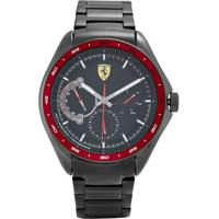 Relógio Scuderia Ferrari Masculino Aço Cinza - 830707
